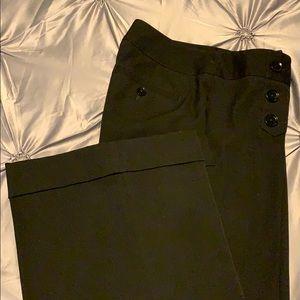 Wide leg sailor button style dress pants